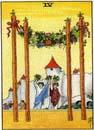 Lilla Arkanan Tarot stavar 4