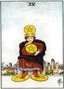 Lilla Arkanan Tarot mynt 4