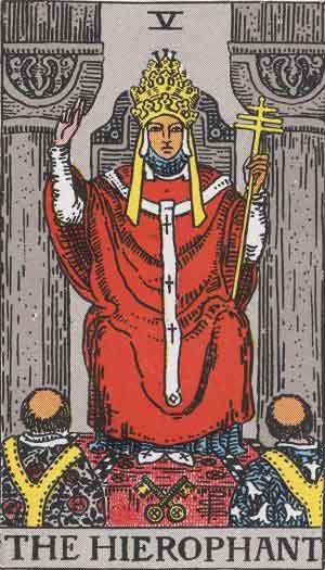 Stora ArkananTarot V Översteprästen