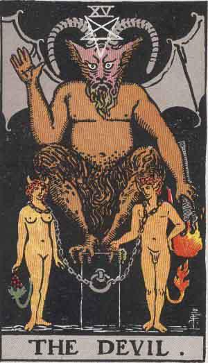 Stora ArkananTarot XV Djävulen