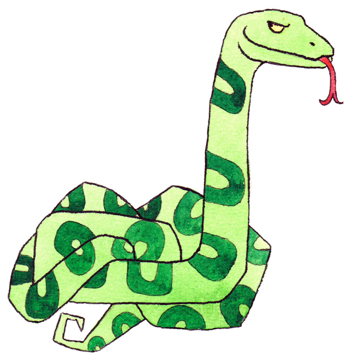 Chinesische Tierzeichen - Die Schlange