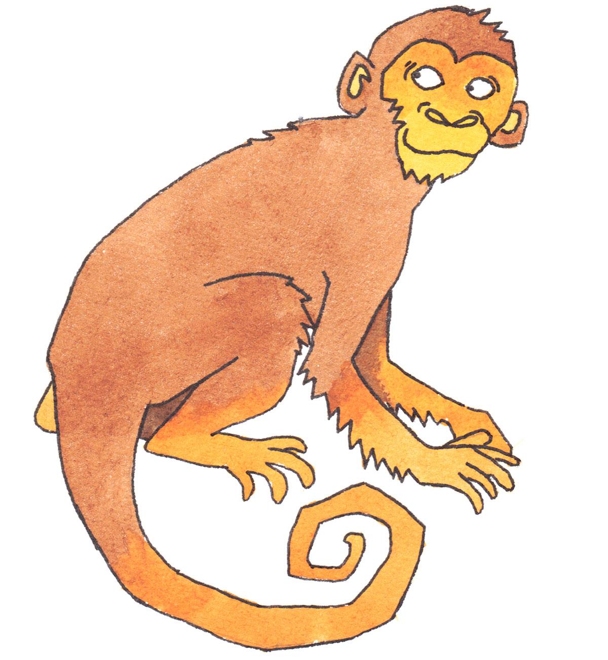 Chinesische Tierzeichen - Affe